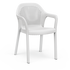 Chaise empilable blanc