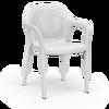 Sedia impilabile bianco thumb
