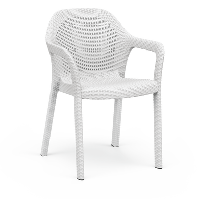 Silla apilable blanco