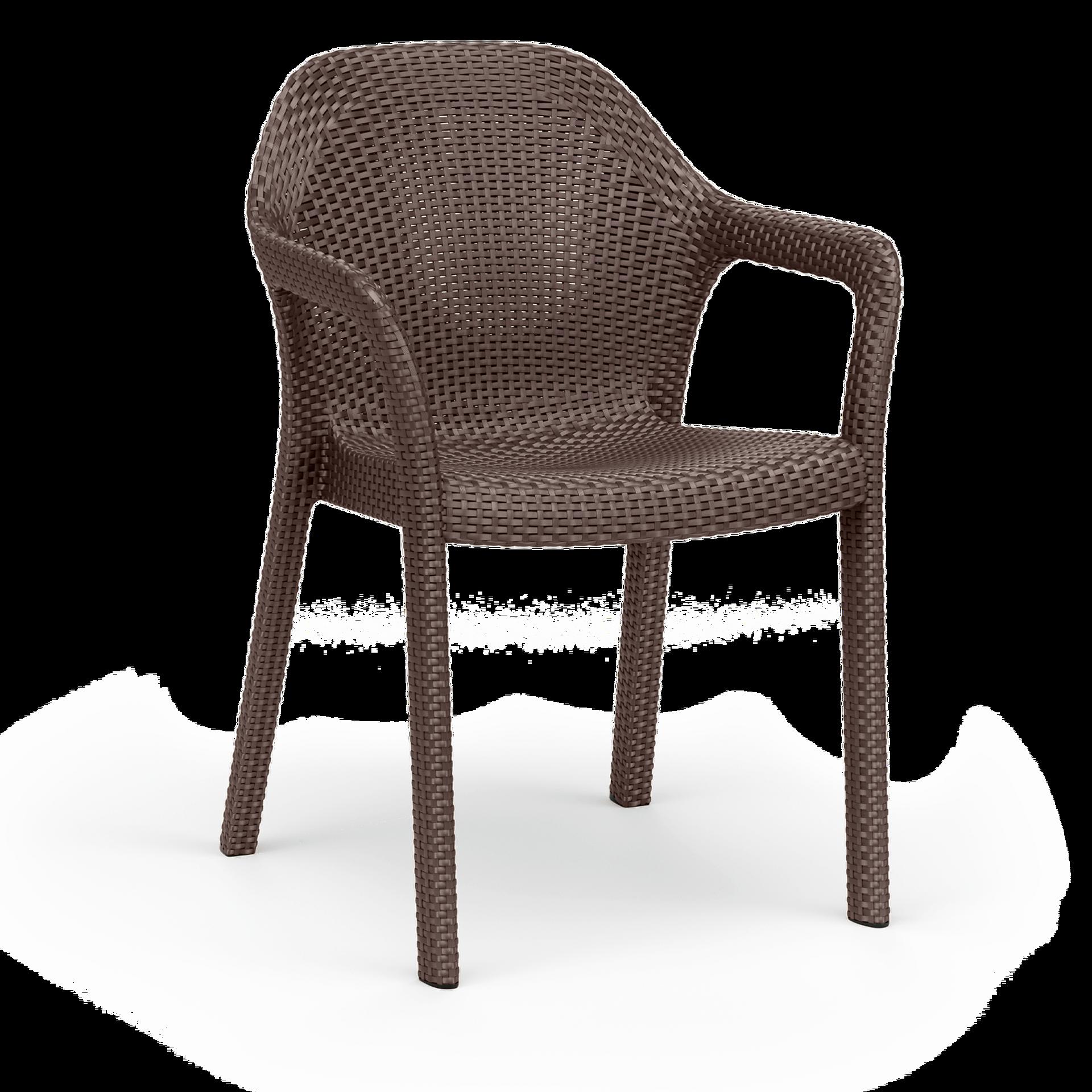 Στοιβαζόμενη καρέκλα mocha