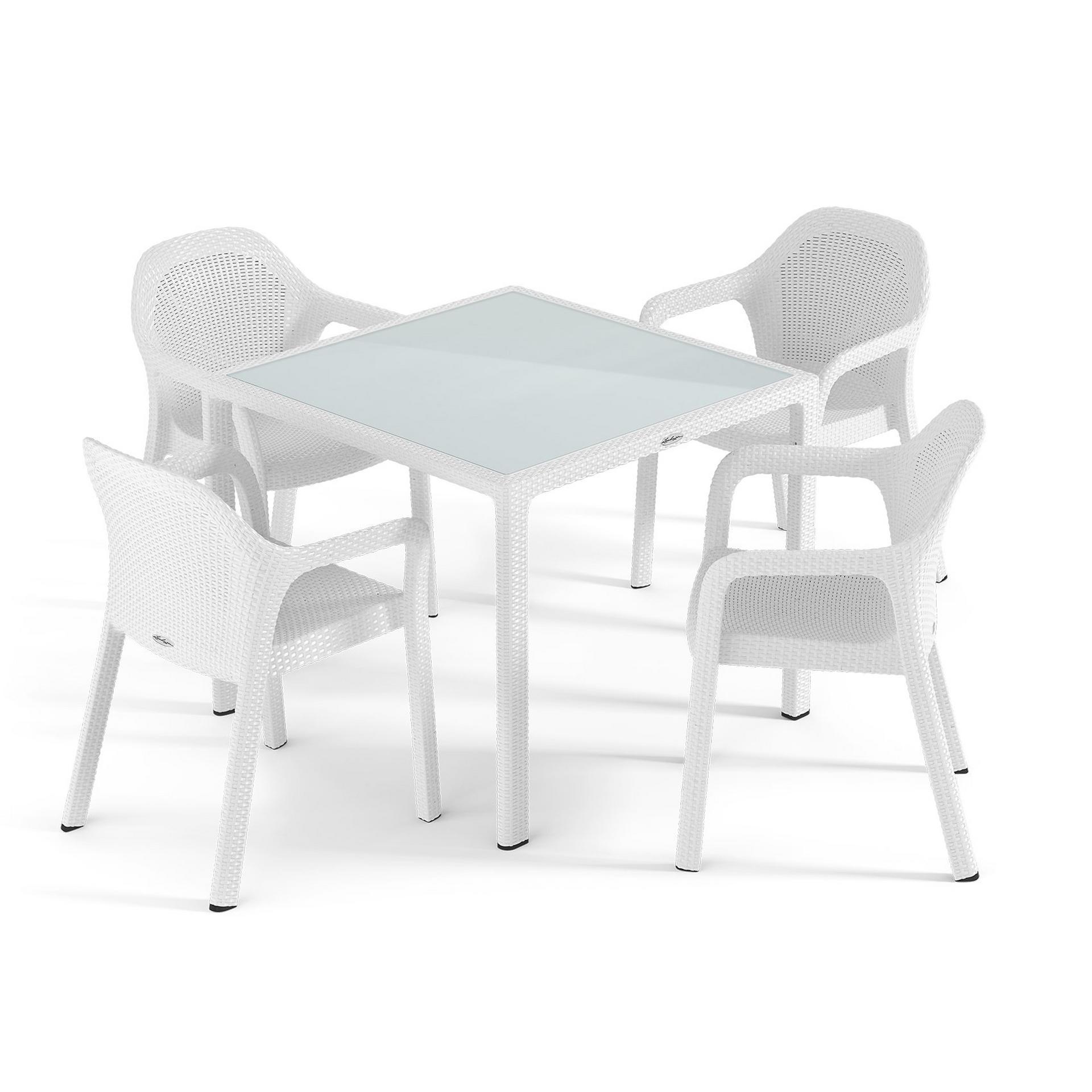 Combination Set of 5 white