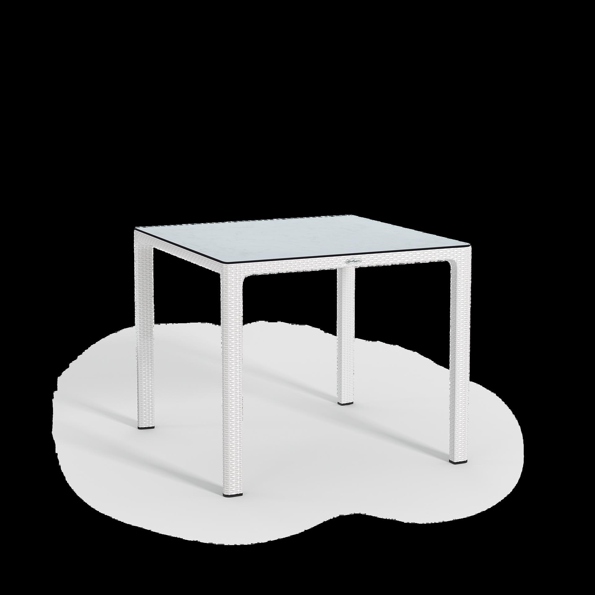 Τραπέζι φαγητού με επιφάνεια HPL, μικρό white