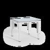 Tavolo da pranzo piccolo con piano in HPL bianco thumb