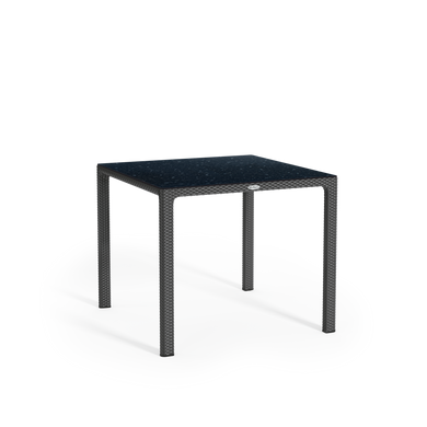Mesa de comedor con tablero laminado de alta presión pequeña granito