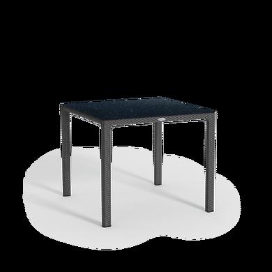 Tavolo da pranzo piccolo con piano in HPL granito