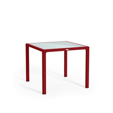 Small dining table scarlet red