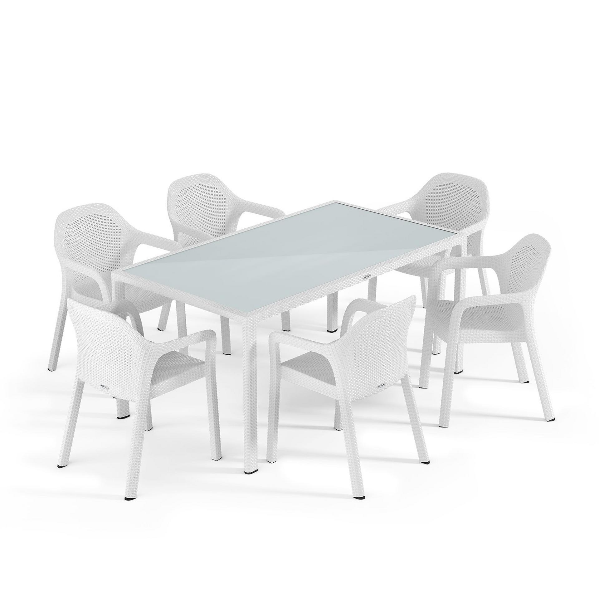 Combination Set of 7 white