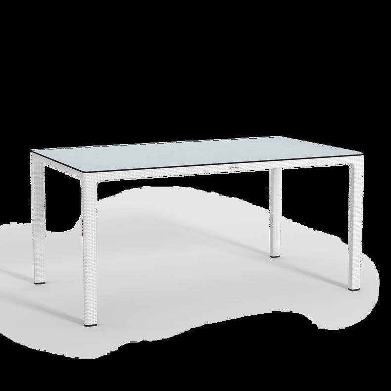 Τραπέζι φαγητού με επιφάνεια HPL, μεγάλο white