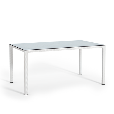 Large dining table with HPL tabletop white