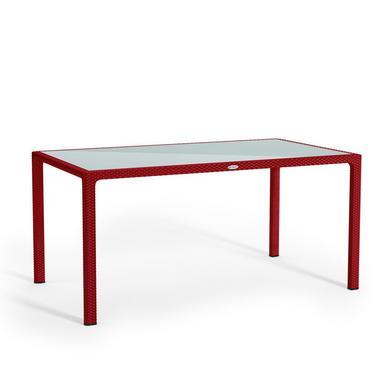 Mesa de comer grande rojo escarlata
