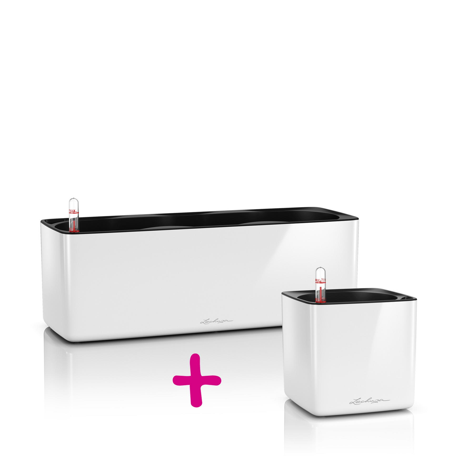 CUBE Glossy Triple + 14 white high-gloss