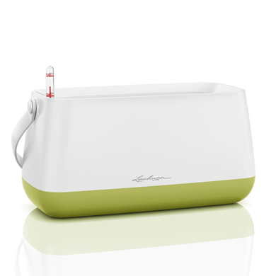 YULA plant bag white/pistachio semi-gloss