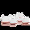 Set YULA blanco/rosa perlado satinado Thumb