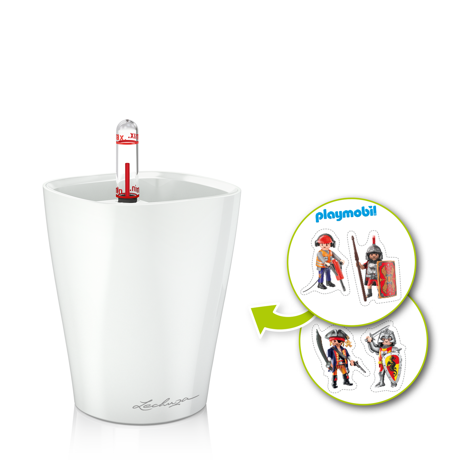 MINI-DELTINI artistic set with knight theme, white semi-gloss