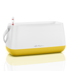 Maceta para plantar YULA blanco/amarillo limón satinado thumb