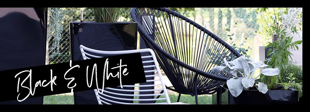 Black and White: Fashionable chic for the outdoor area