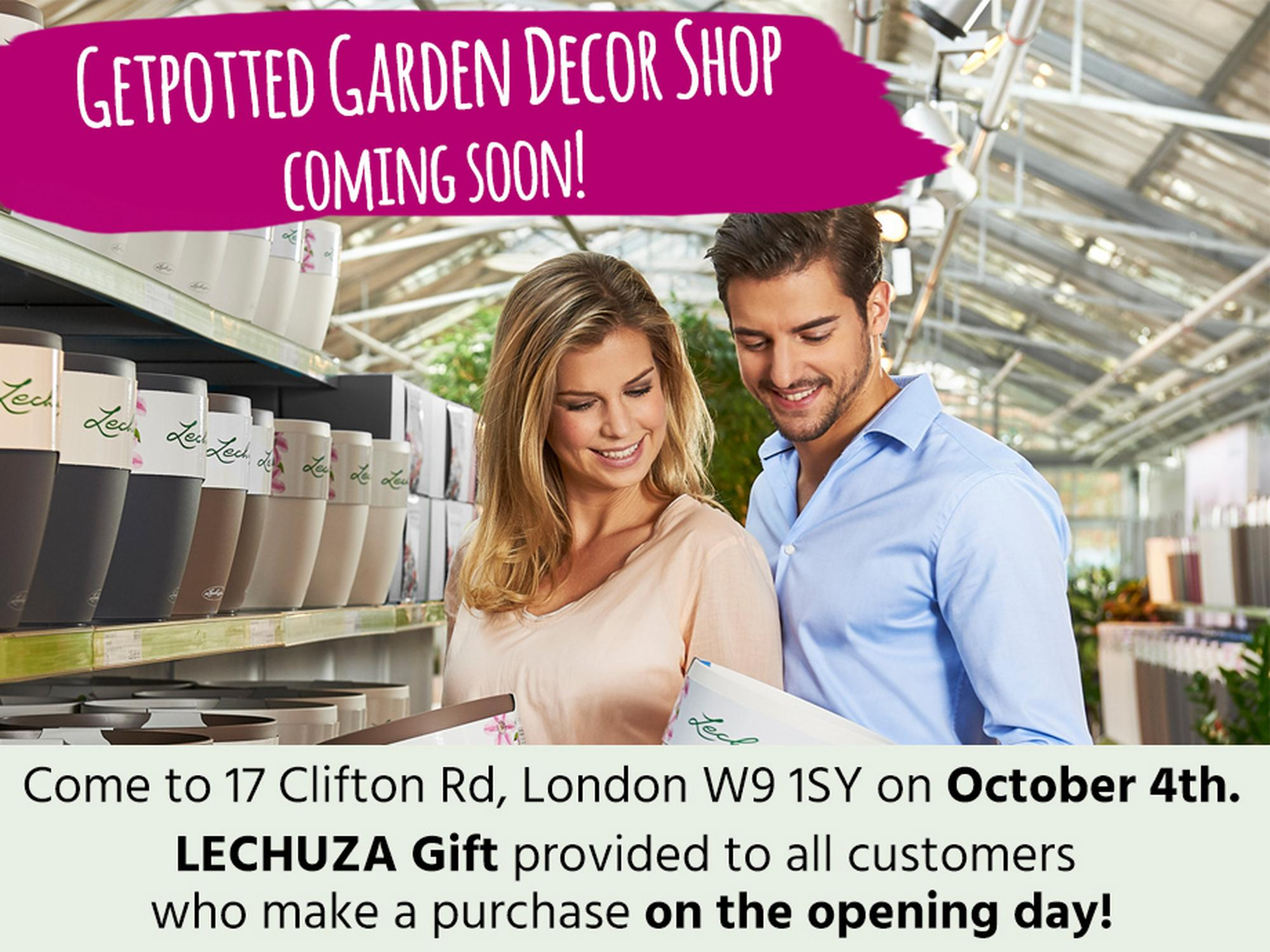 Getpotted Garden Decor Shop in London coming soon!