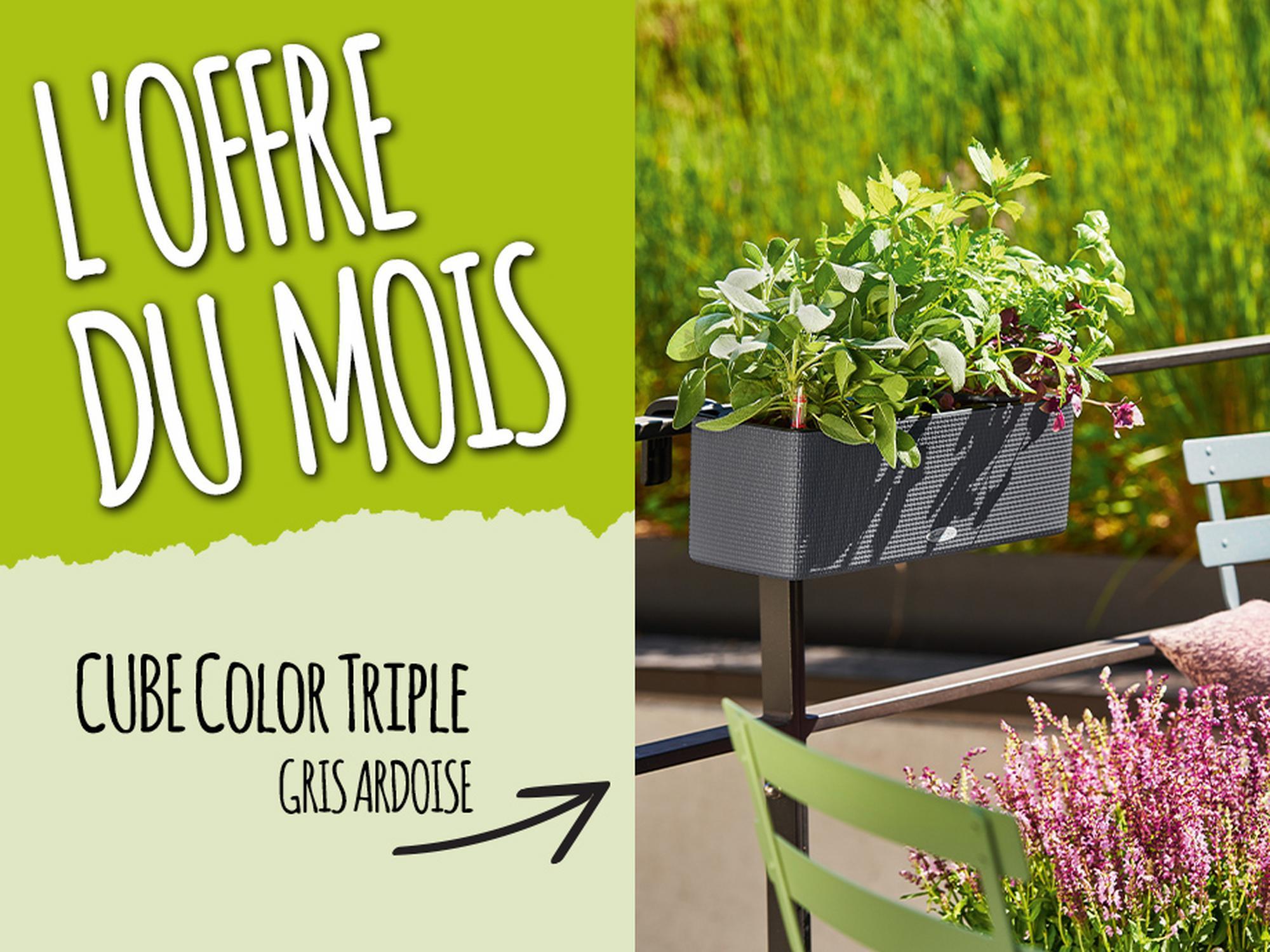 L'offre du Mois: 15% de réduction pour l'achat du CUBE Color Triple gris ardoise