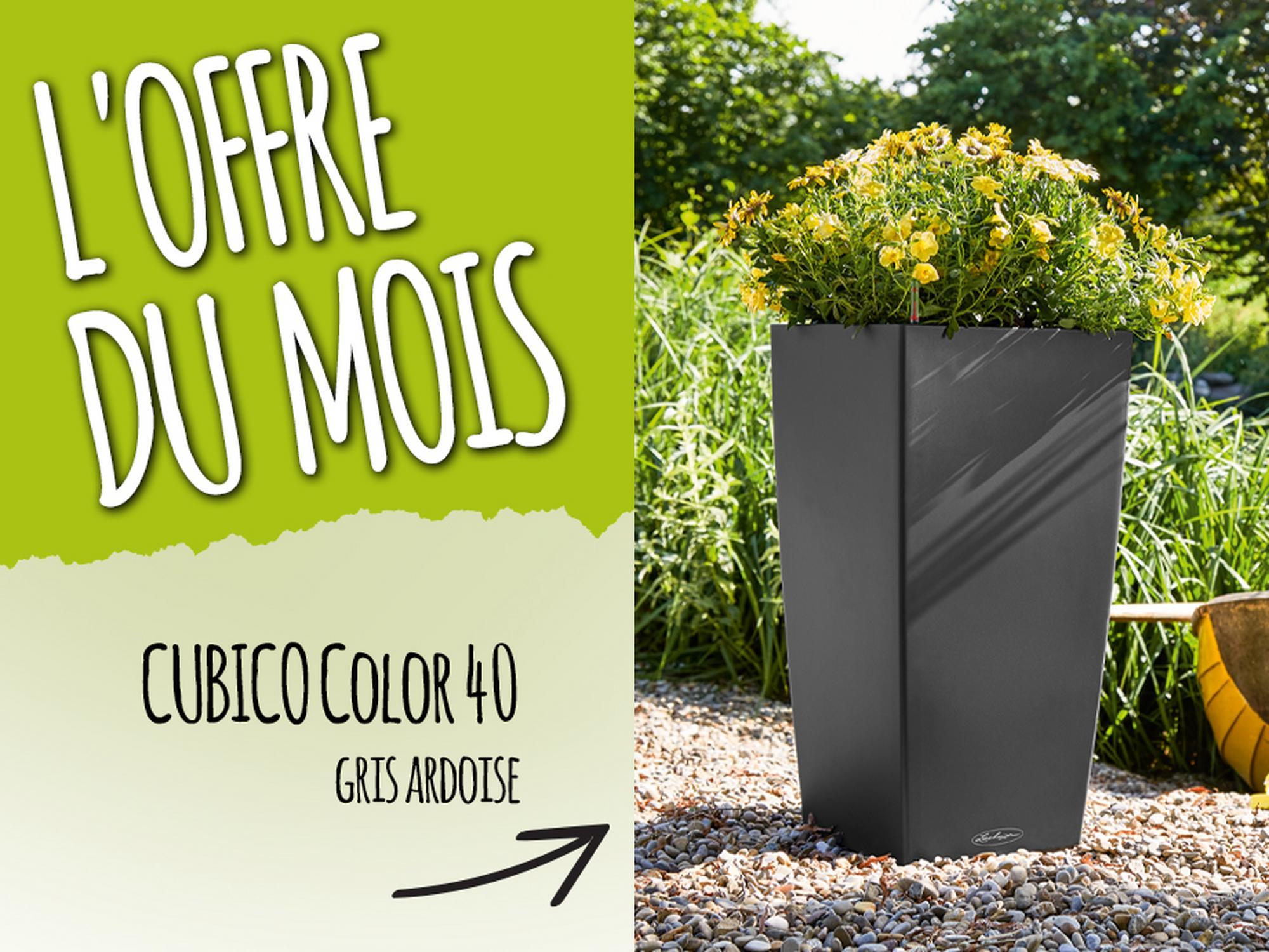 L'offre du Mois: 15% de réduction pour l'achat du CUBICO Color 40 gris ardoise