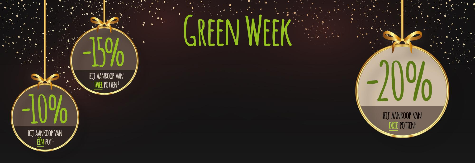 Green Week: Extra korting van 23-30 november 2020
