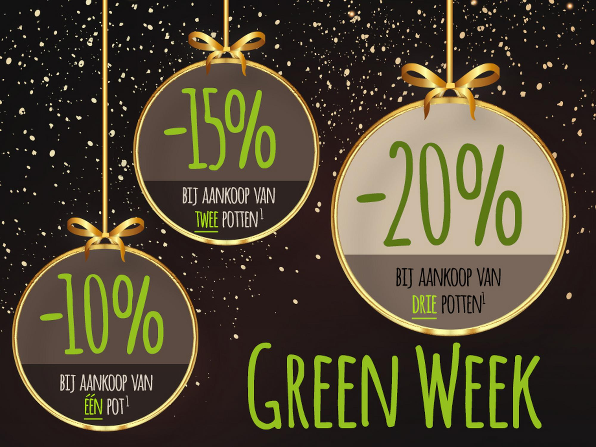 Green Week: Extra korting van 23-30 november 20200