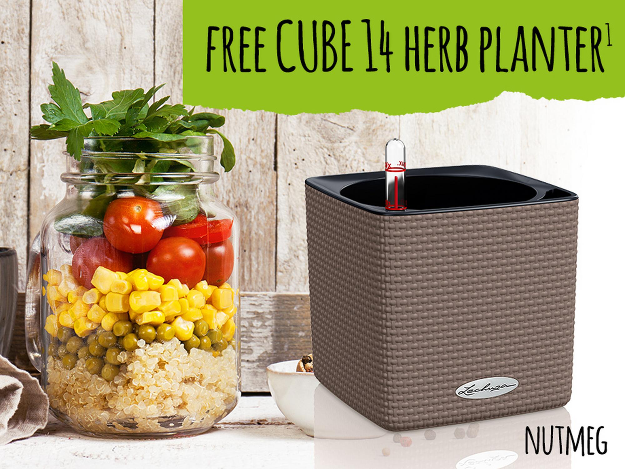 Get a free CUBE 14 Herb planter nutmeg on all orders over £199