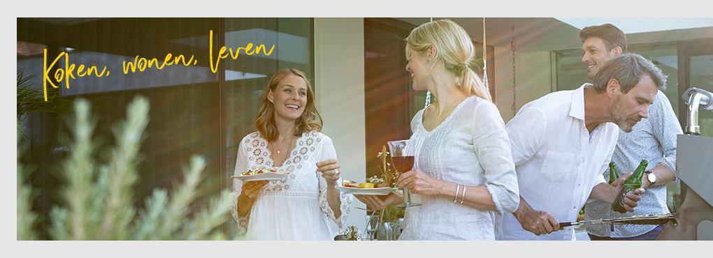 Decoratieve en receptideeën voor uw buitenkeuken met bloempotten van LECHUZA.