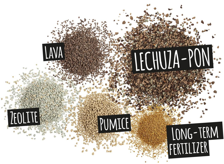 'Components of LECHUZA-PON: lava