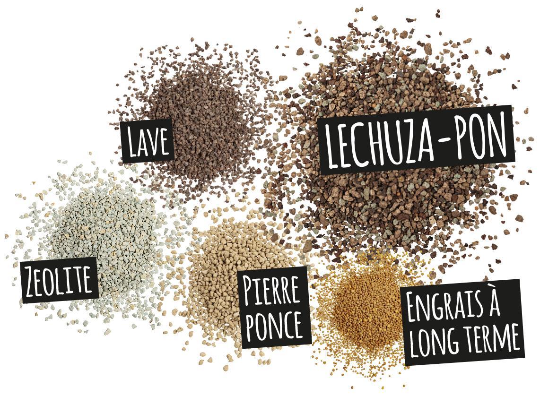 'Composantes de LECHUZA-PON: Lave