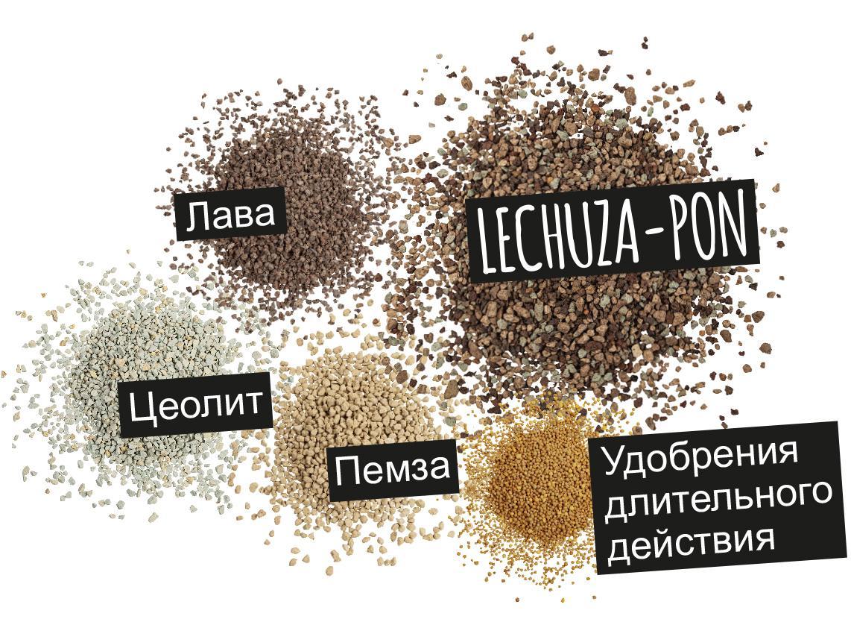 'Компоненты LECHUZA-PON: Лава