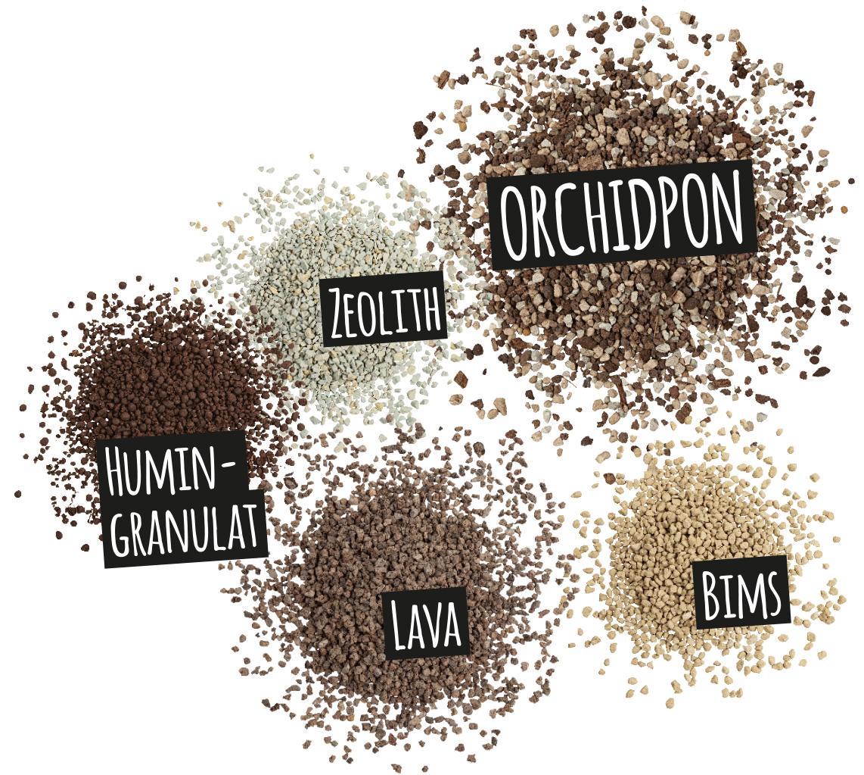'Bestandteile des ORCHIDPON: Lava