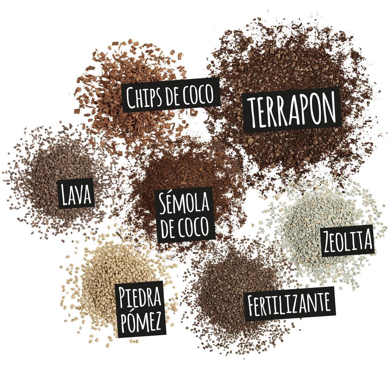 'Componentes de TERRAPON: Chips de coco