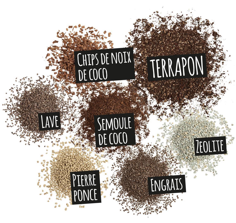 'Composantes de TERRAPON: Chips de noix de coco
