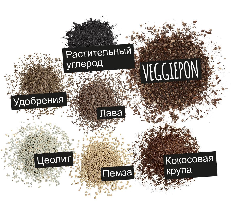 'Компоненты VEGGIEPON: Растительный углерод