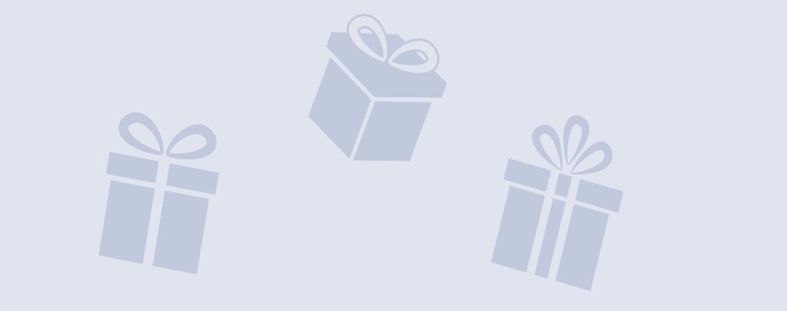 Paquete de regalo sobre fondo azul