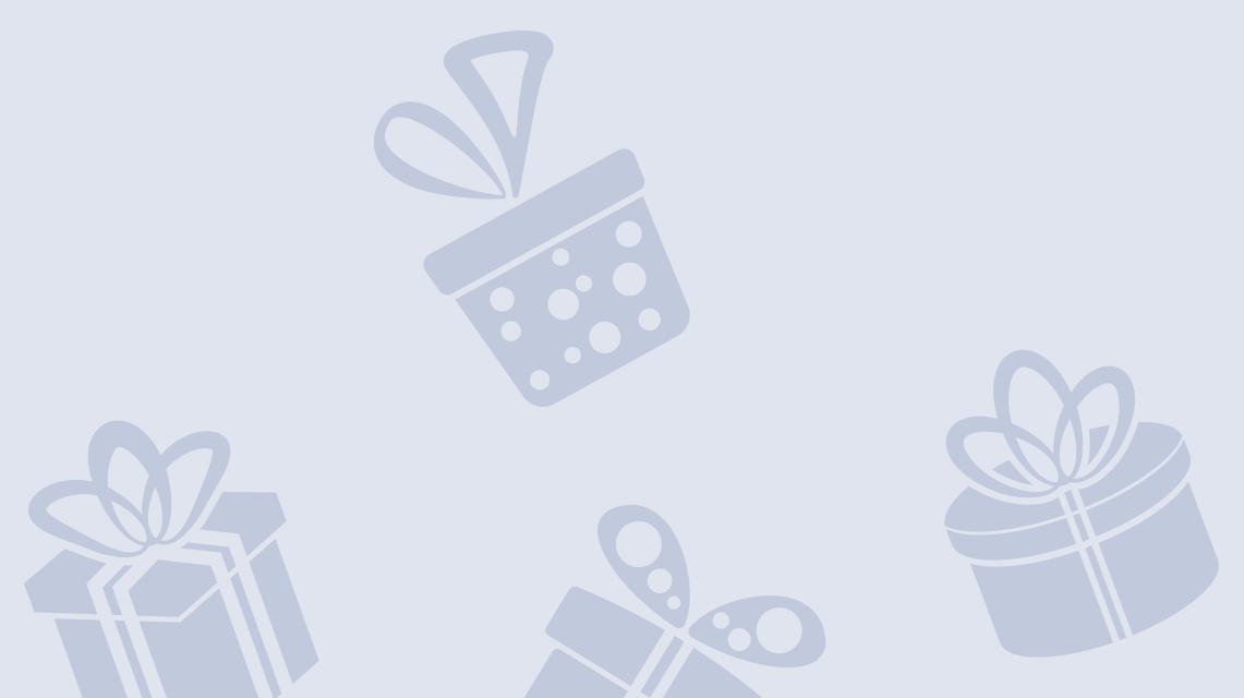 Skizzierte Geschenkpäckchen auf blauem Hintergrund