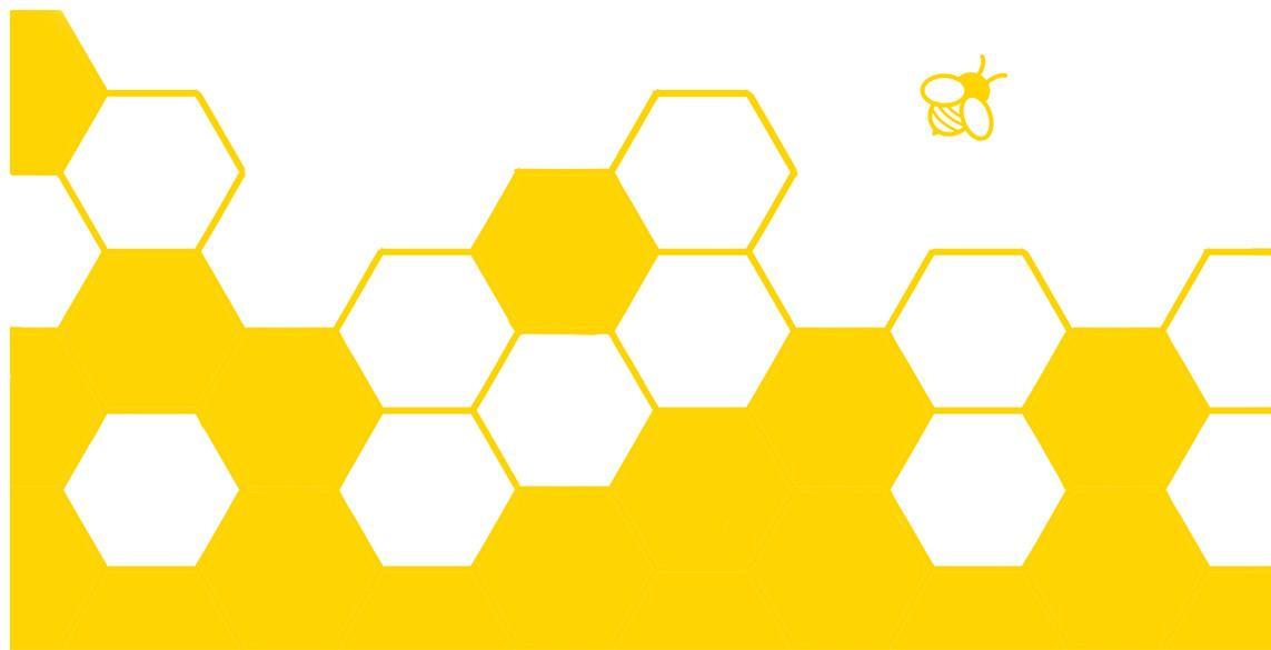 Wabengeflecht mit Biene