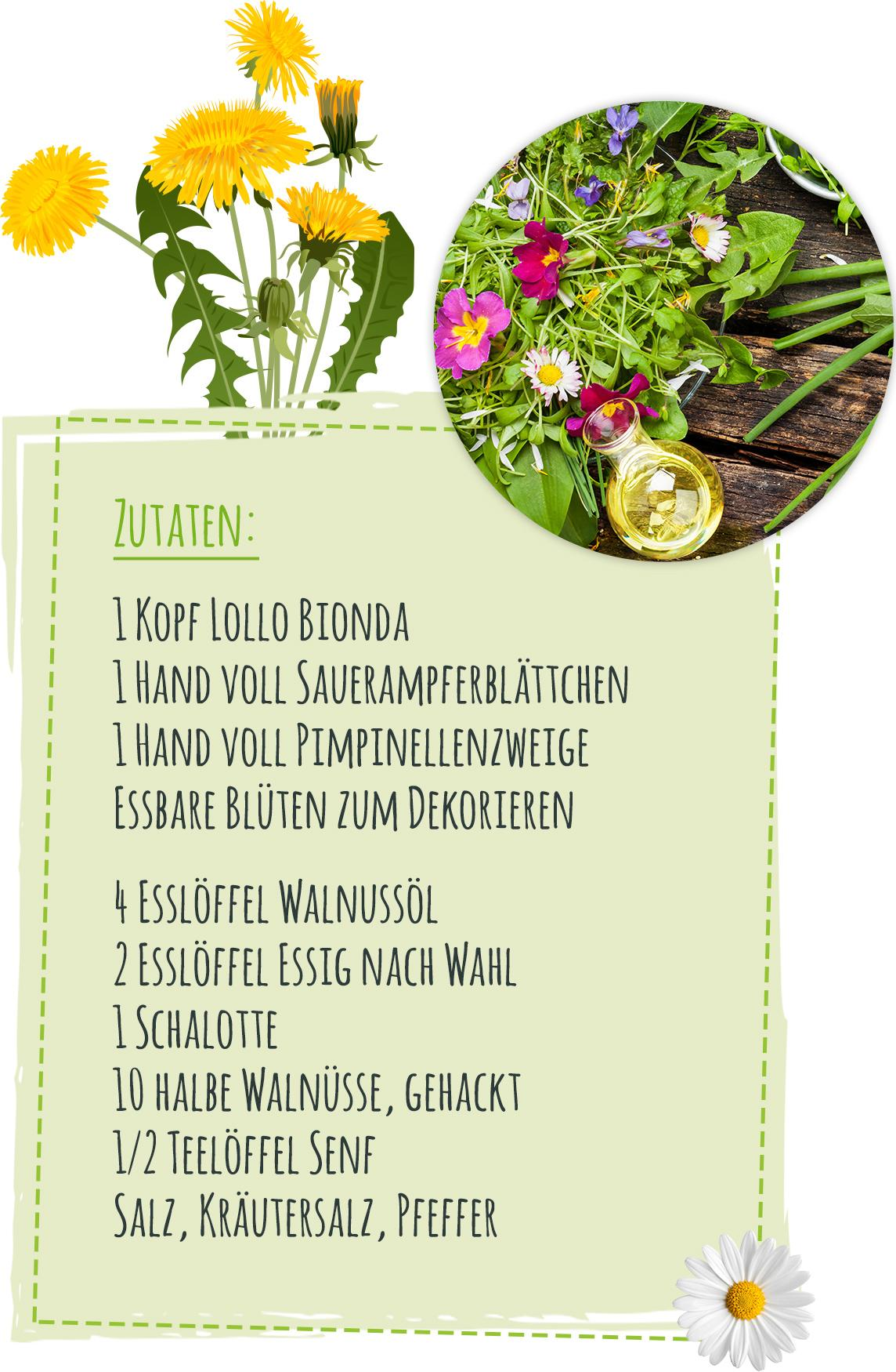 Rezept für Blütensalat