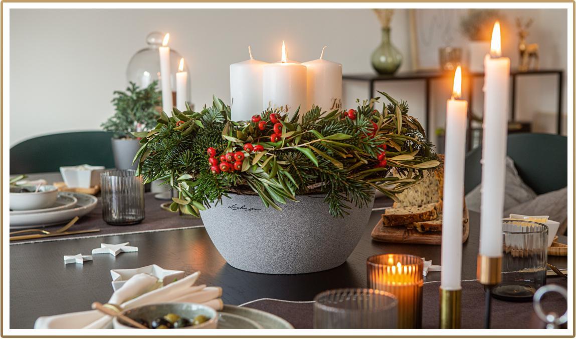 CUBETO planting bowl arranged as advent wreath