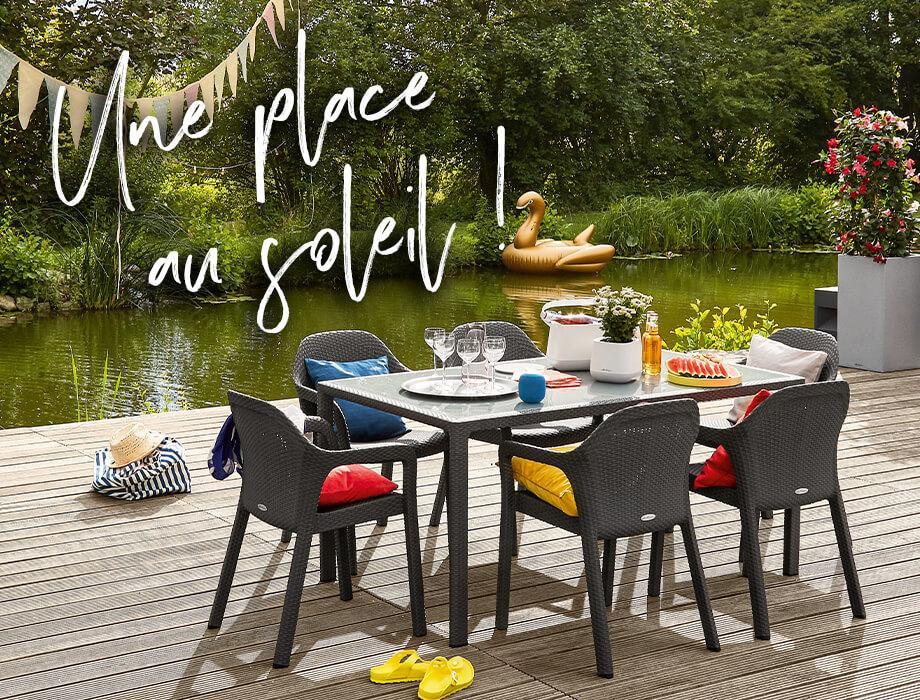 des meubles de jardin confortables et