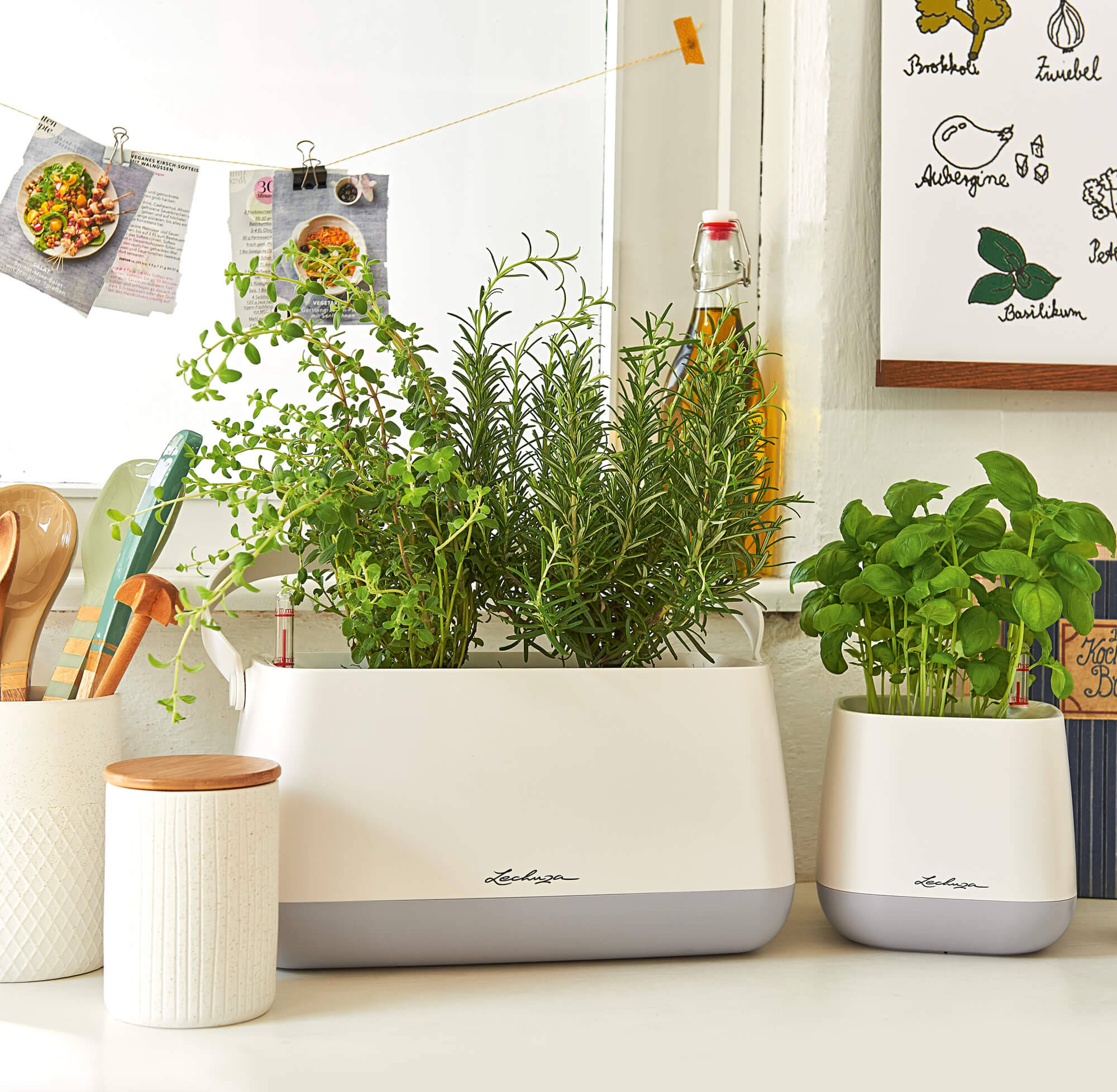 YULA Collection Stylish herb planters for the kitchen
