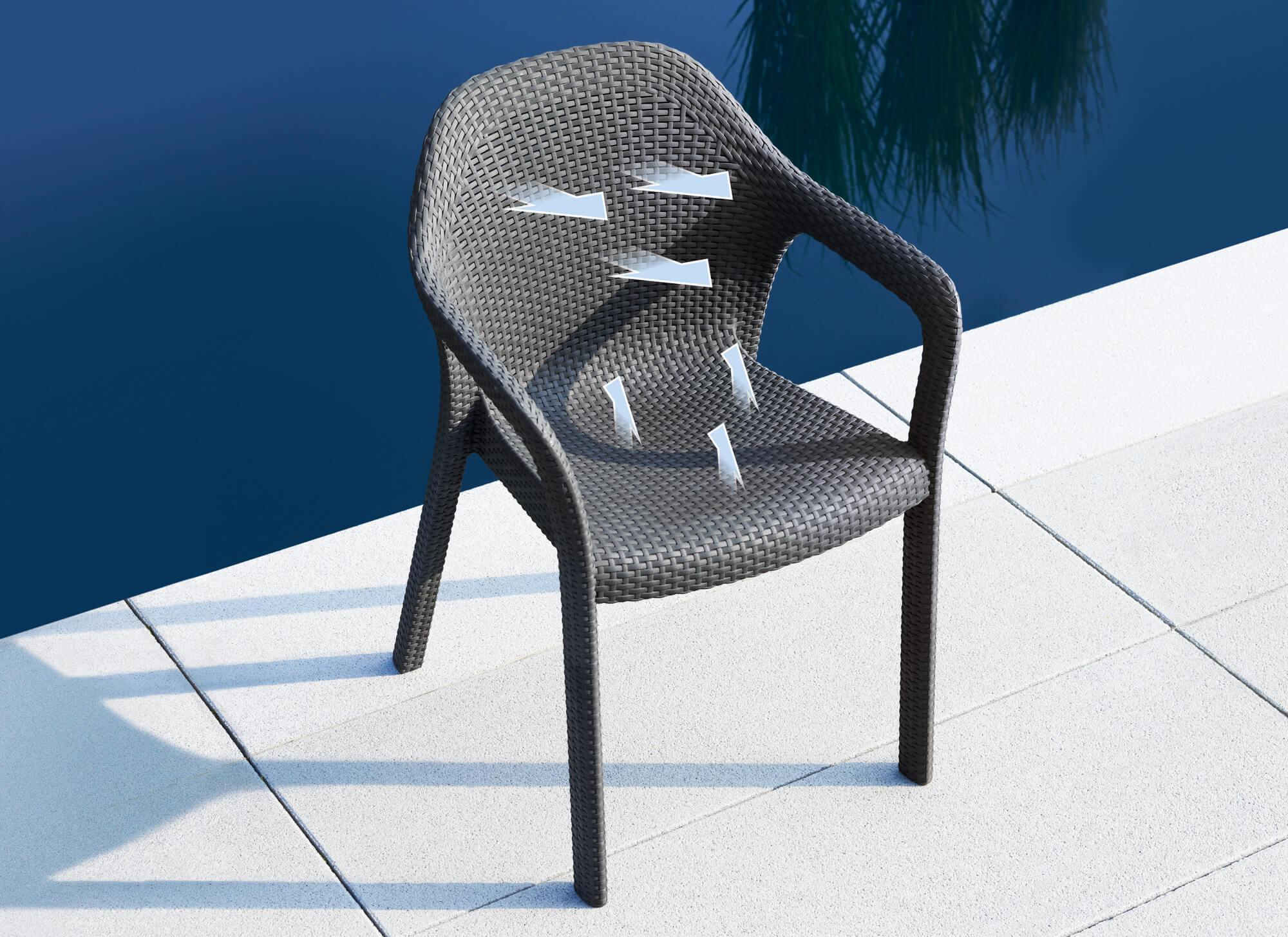 The LECHUZA chair offers maximum comfort