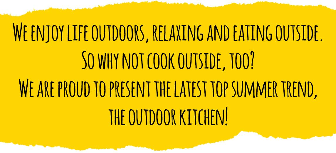 The latest top summer trend: the outdoor kitchen!