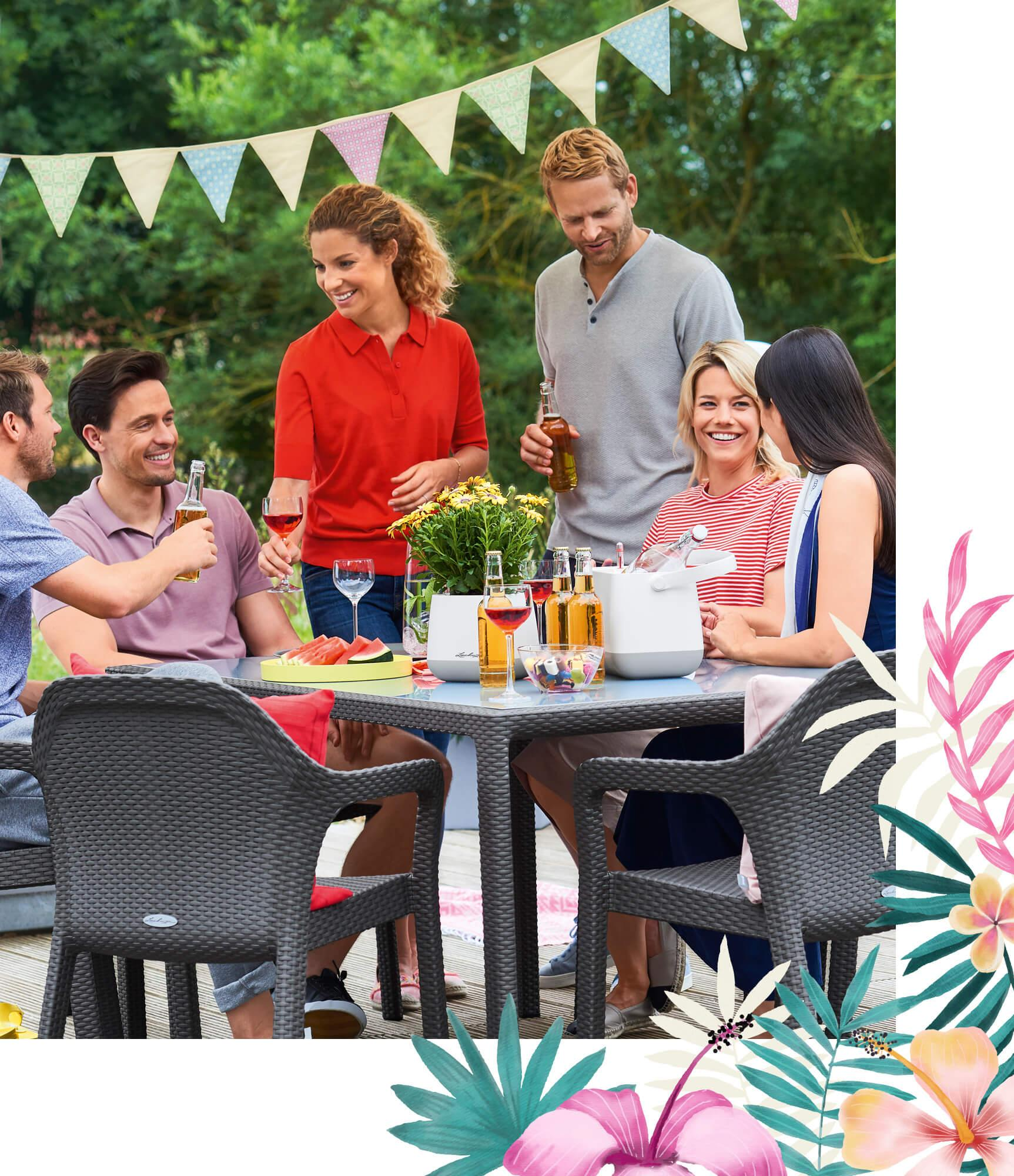 Summer party in the open-air living room
