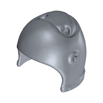 30023280_sparepart/HELMET WITH HOLES FOR ORNAMENT SILVER
