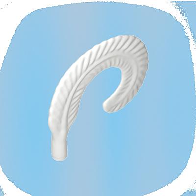 30043340_sparepart/FEATHER:PIRATE CAP,WHITE