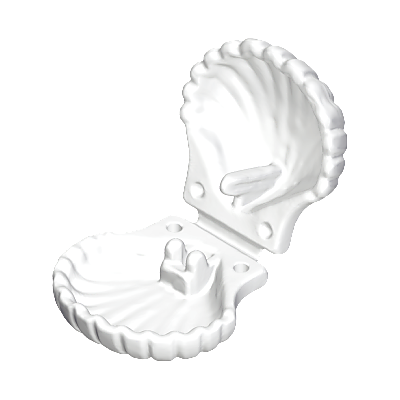30043560_sparepart/SHELL: CREAM WHITE.