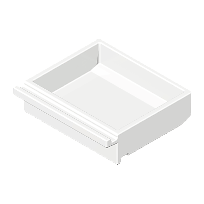 30045170_sparepart/DRAWER: SHALLOW  WHITE.