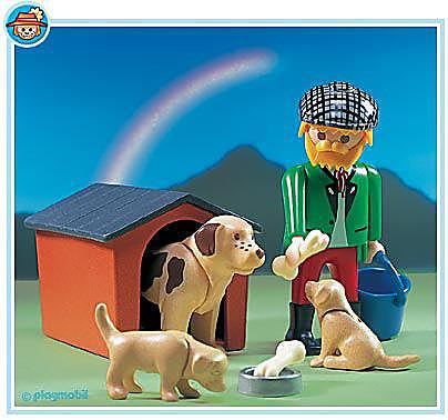 3005-A Maître/chiens/chiots detail image 1