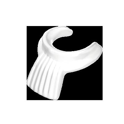 30063170_sparepart/COLLAR:FRILLED DAME WHITE